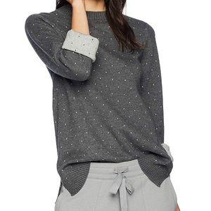 Michael Stars reversible polka dot knit sweater